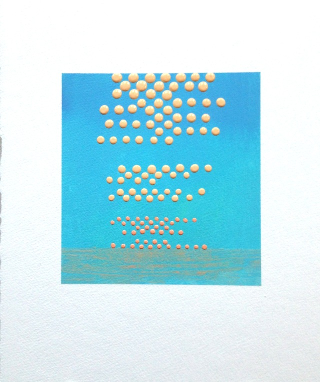 Study 4, acrylic on paper 15x11