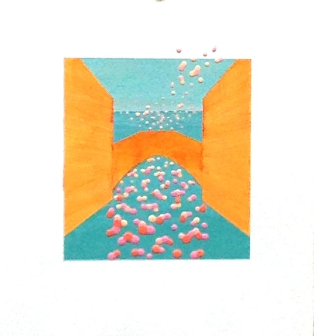 Venice 1, acrylic on paper 11x10