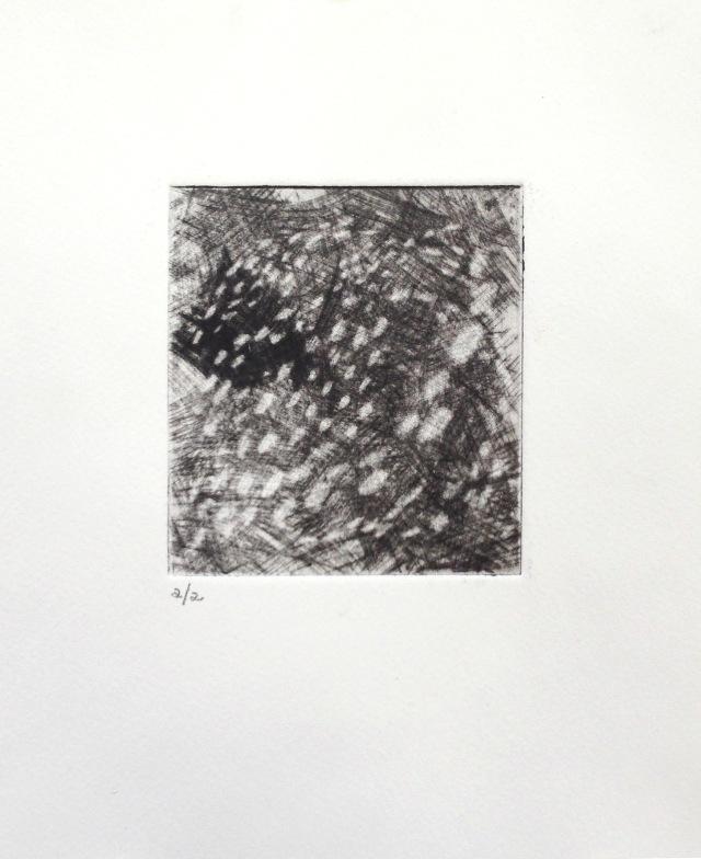 Zinc mezzotint, 7.5x6