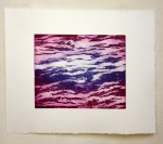 Soft ground etching with colored ink